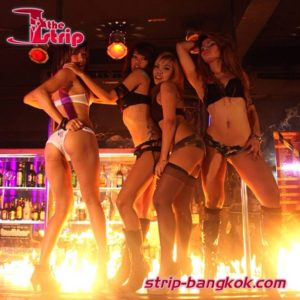fire show strip gogo bar