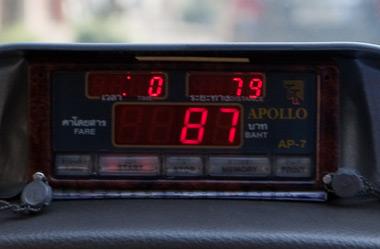 bangkok compteur taxi metre