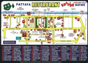 restaurant pattaya map